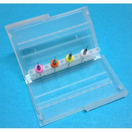 Set di 4 punte per pulizia ugelli estrusori stampante 3d mendel, prusa, reprap