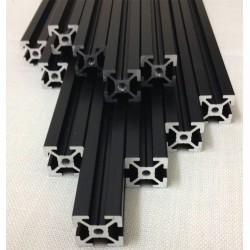 Barre Ultimaker 2 Clone Replica profilati Alluminio Estruso Nero 20x20 mm per Stampante 3d