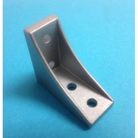 Staffa invertibile con aletta 4 fori Angolare per estrusi alluminio 20x20 mm - Stampanti 3d