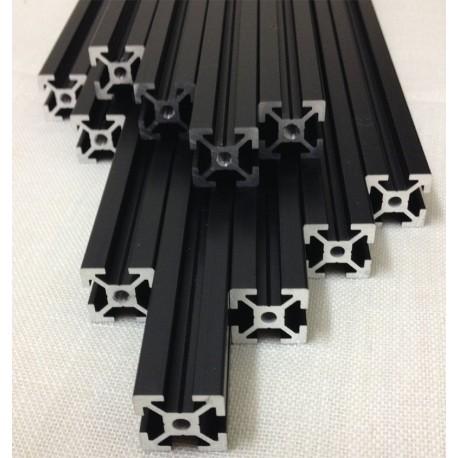 Barre profilati Estrusi Alluminio Nero 20x20 mm per Stampante 3d Mendelmax 2.0 Reprap