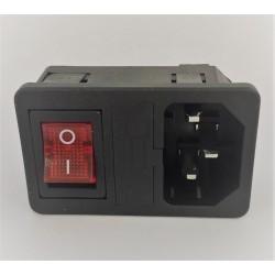 Presa da Pannello con Interruttore Luminoso e Portafusibile 10A - Stampante 3D CNC Reprap