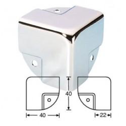Paraspigolo cromato sagomato angolare per box stampante 3D