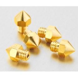 Ugello 0,6mm MK8 per Estrusore Hot End Stampante 3D Prusa Mendel Brass Nozzle