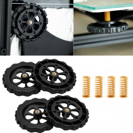 Set 4 Molle compressione Viti e Ruote per livellamento piatto stampante 3D